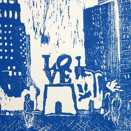 Marita McVeigh - Love Park In Blue