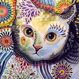 Amy Giacomelli - Lucy ... Abstract cat art