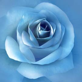 Jennie Marie Schell - Luminous Blue Rose Flower