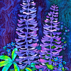Lupine Bouquet by Teresa Ascone