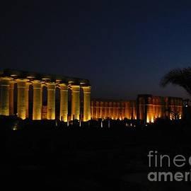 Luxor Temple at Night by Lorita Montgomery