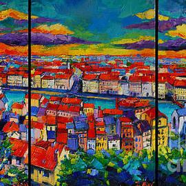 Mona Edulesco - Lyon Panorama Triptych