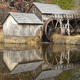 Mabry Mill Waterwheel Reflection by Diannah Lynch