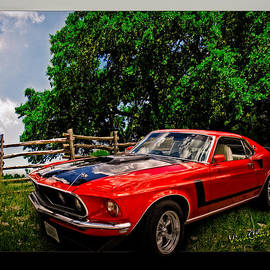 1969 Ford Mach 1 Mustang by Chas Sinklier