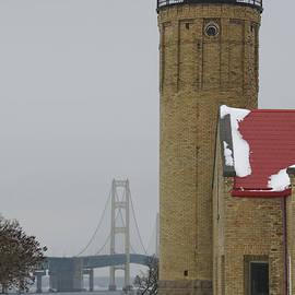 Mackinaw Lighthouse and Bridge