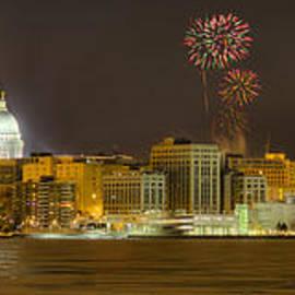 Madison Skyline New Years Eve by Steven Ralser
