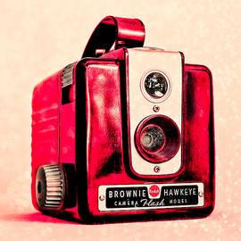 Magenta Brownie Hawkeye - Square by Jon Woodhams