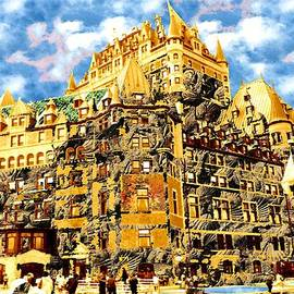 The Golden Castle of Quebec City by Peter Potter