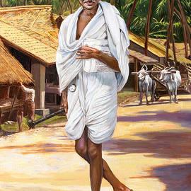 Mahatma Gandhi by Dominique Amendola
