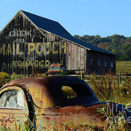 Paul Ward - Mail Pouch Barn and Old Cars
