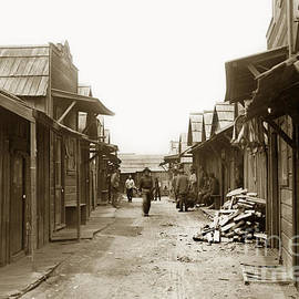 Main Street of the Pacific Grove Chinese Fishing Village circa 1900 by California Views Archives Mr Pat Hathaway Archives