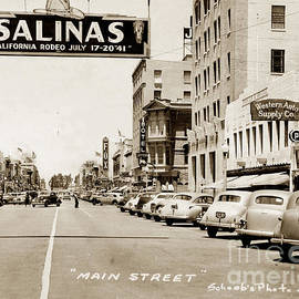 Main Street Salinas California 1941 by California Views Archives Mr Pat Hathaway Archives