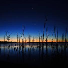 Manasquan Reservoir at Dawn by Raymond Salani III