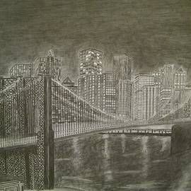 Manhattan At Night by Irving Starr