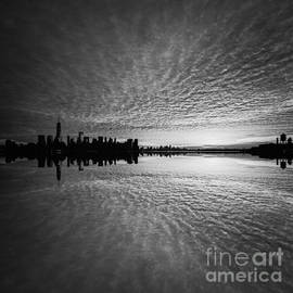 Michael Ver Sprill - Manhattan Sunrise bw