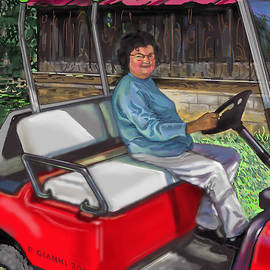 Philip Gianni - Marie in golf cart on farm