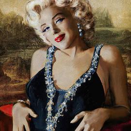 Marilyn 126 Mona LIsa by Theo Danella