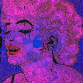Saundra Myles - Marilyn 2 abstract