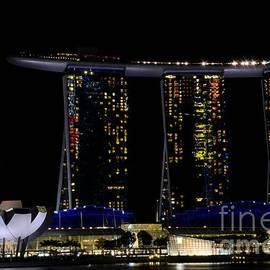 Marina Bay Sands integrated resort hotel and casino and ArtScience Museum Singapore Marina Bay by Imran Ahmed