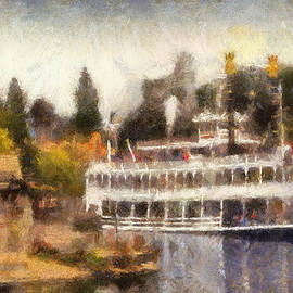 Mark Twain Riverboat Frontierland Disneyland Photo Art 02 by Thomas Woolworth