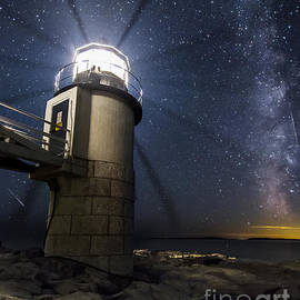 Marshall Lighthouse and the Night Sky by John Vose