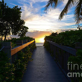 Maui Sunset Boardwalk by Kelly Wade