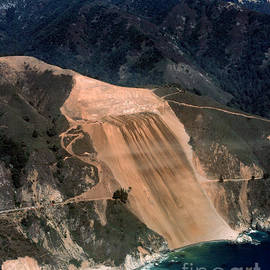California Views Mr Pat Hathaway Archives - Aerial of McWay landslide Big Sur California 1984