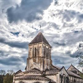 Nila Newsom - Medieval Monastery Under Swirling Clouds