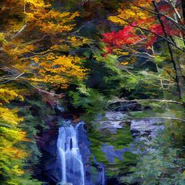 John Haldane - Meigs Falls in the Great Smoky Mountains National Park During Autumn