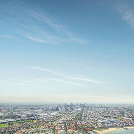 Melbourne City Ariel Skyline by Aaron Foster