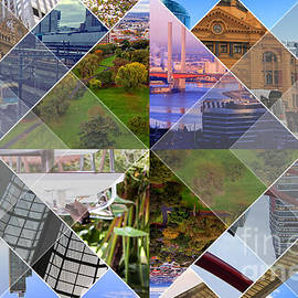 Melbourne The Worlds Most Livable City Collage by Beverly Claire Kaiya