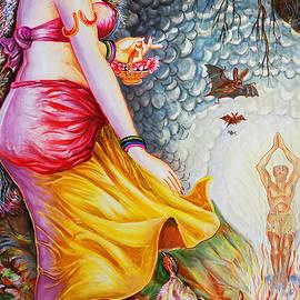 Menaka On Verge Of Breaking Vishwamitra Meditation by Asp Arts