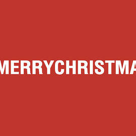 Merry Christmas Hashtag by Linda Woods