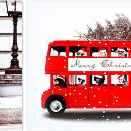 Merry Christmas Routemaster and London Guard by The Creative Minds Art and Photography