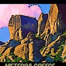 John Malone - Meteora Greece Poster