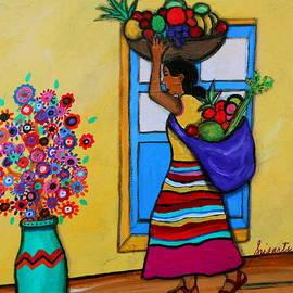 Mexican Street Vendor by Pristine Cartera Turkus
