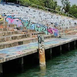 Miami Marine Stadium-graffiti by Bradford Martin