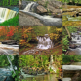 Michigan Waterfall Collection 1 by Michael Peychich
