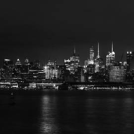 Midtown Manhattan Skyline Triptych Left by David Morefield