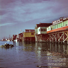 Mikes Sea Food Fisherman Wharf Monterey circa 1960 by California Views Archives Mr Pat Hathaway Archives