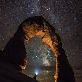 Mike Berenson - Milky Way Illumination At Delicate Arch