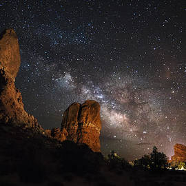 Milky Way Suspension At Balanced Rock by Mike Berenson