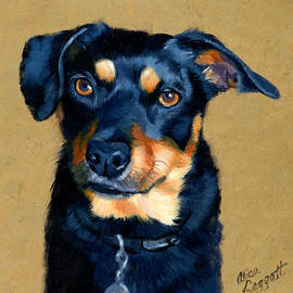 Alice Leggett - Miniature Pinscher Dog Painting