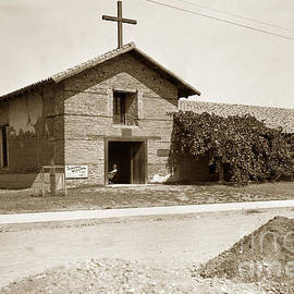 Mission San Francisco Solano Sonoma California circa 1920 by California Views Archives Mr Pat Hathaway Archives