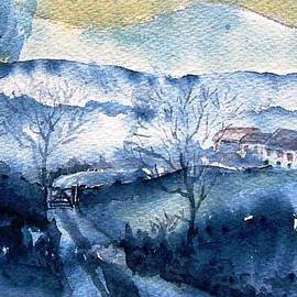 Trudi Doyle - Mist Rising over Snow in Wicklow Mts Ireland .