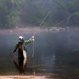 Misted Fly Fishing by Catherine Melvin