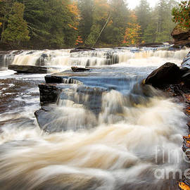 Misty Morning at Manido Falls - Upper Peninsula of Michigan by Craig Sterken