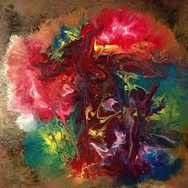 Mixed Media Abstract Post Modern Art By Alfredo Garcia Bizarre by Alfredo Garcia
