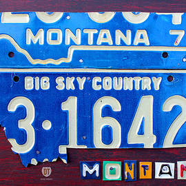 Montana License Plate Map by Design Turnpike