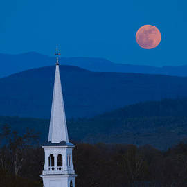 Michael Blanchette - Moon over Vermont Hills